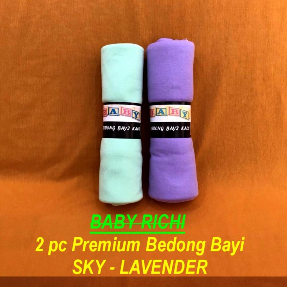 Beli sekarang BAYIE - Bedong Bayi Premium BABY RICHI 2 pc SKY dan LAVENDER / Selimut bayi / Alas tidur bayi terbaik murah - Hanya Rp40.995