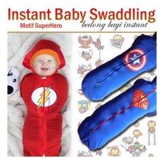 Harga Termurah Bedong Instan Kaos Hoodie Sleting Motif Superhero