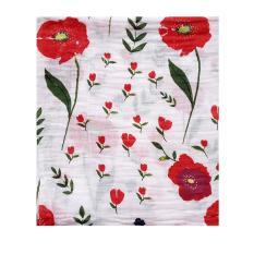 Beli Bedong Bayi Cotton Muslin Swaddle Lucu Hoppipollakids Red Flower Dengan Kartu Kredit
