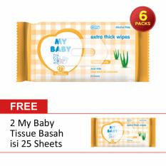 Review Beli 6 Gratis 2 My Baby Extra Care Fresh Fruity Tissue Basah 25 Sheets My Baby