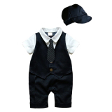 Jual Belle Maison Gentleman Style With Hat Jumpsuits Black Navy Branded