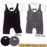 Jual Belle Maison Tuxedo Romper Line Bayi Dark Grey 6 24Month Belle Maison Online