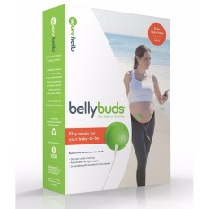 BellyBuds by WavHello, Pregnancy Baby-Bump Headphones | Prenatal Bellyphones Play Music, Sound and Voices to the Womb - intl