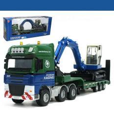Harga Best Seller Miniatur Truck Excavator Low Loader With Excavator Diecast Murah Kdw Original Termurah