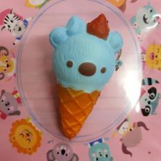 Simply Chic Squishy Gantungan Kunci Es Krim Beruang Rilakuma Squishy Simulation Ice Cream Bear Slow Rising