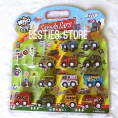 Toko Besties Mobil Mainan Pull Back Speedy Car Set Isi 12Pcs Terlengkap