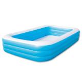 Diskon Besarbestway 3 Rings Family Pool Kolam Kotak Jumbo Polos 305X183X56Cm