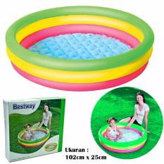 Jual Beli Bestway 51104 Medium Summer Set Poo 3 Ring 102Cm X 25Cm Kolam Renang Anak Indonesia