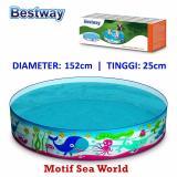 Spesifikasi Bestway 55029 Kolam Renang Anak 152 X 25 Cm Sea World Yang Bagus