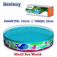 Review Bestway 55029 Kolam Renang Anak 152 X 25 Cm Sea World Bestway