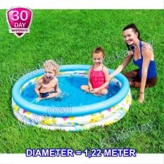 Bestway Intex Rainbow Coral Kids Swimming Pool Pelampung Kolam Renang Anak Pelangi Medium Diameter 1 22 Meter Diskon Indonesia