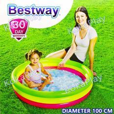 Jual Beli Online Bestway Intex Rainbow Swimming Pool Pelampung Kolam Renang Anak Pelangi Medium Diameter 1 Meter