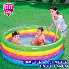 Bestway Kolam Renang Pelampung Anak Pelangi Big Size 4 Tingkat Diameter 1 57 Meter Intex Rainbow Swimming Pool Portable