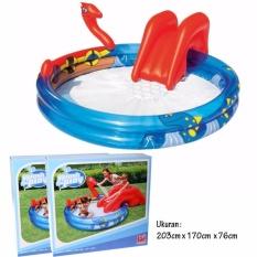 Toko Bestway Kolam Bermain Anak 53033 Viking Play Pool Perosotan Air Bestway