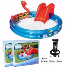 Bestway Kolam Bermain Anak 53033 Viking Play Pool Perosotan Air + Pompa Angin 12