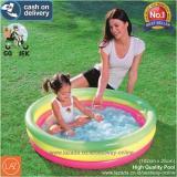 Jual Bestway Kolam Renang Anak Bayi Baby 102 X 25Cm Kolam Pelangi Summer Set Pool 51104 Branded