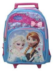 Toko Bgc Disney Frozen Elsa Anna Blue Pink Troley Sch**l Bag 3D Import Terlengkap Banten