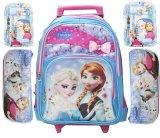 Spesifikasi Bgc Disney Frozen Free Set Tas Troley Dan Kotak Pensil Free Alat Tulis Komplit Elsa Anna Blue Pink Import Paling Bagus