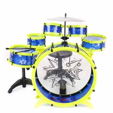 BGC Drum Mainan Anak Big Band Drum SNI - Biru Kuning