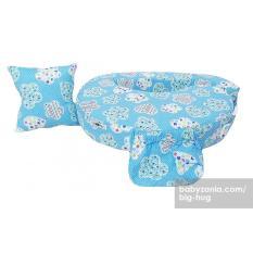 Big Hug Bantal Menyusui Dan Apron - Blue Flower