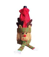 Bigood Santa Snowman Rusa Besar Hari Natal Merah Anggur Bottle Sarung Tas Dekorasi Hadiah Kijang-Internasional By Bigood Online.