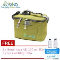 Jual Bka Cooler Bag Hijau Gratis 2 Botol Bka Dan Ice Gel 400 Gr Import