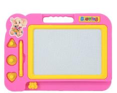 Hitam Putih lukisan gambar grafiti papan tulis magnetik mainan Prasekolah alat, berwarna merah muda-Internasional