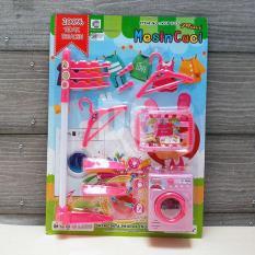 Blink Mainan Anak Mini Mesin Cuci Set / Mainan Set Laundry / Mainan Anak Perempuan