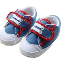 Beli Blue Hot Balita Baru Lahir Soft Sole Slip On Shoes Bayi Boys Girls Rumbai Sepatu S414 Online Terpercaya