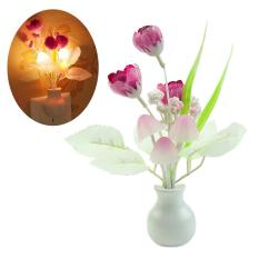 Bluelans® Tulip Bunga LED Night Light Soft Sensor Baby Bed Kamar Lampu Dekorasi Rumah (International)-International