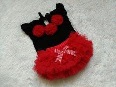 Spesifikasi Bnc Setelan Baju Dan Rok Tutu Set 12Bln Merah Hitam Baru