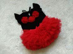 BNC Setelan baju dan rok tutu set 1-3th - Merah Hitam