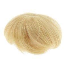 Bolehdeals Emas Rambut Pendek Teguran Sopak untuk 1/8 BJD Sd DZ Luts Boneka Making & Perbaikan-Internasional