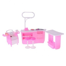 Bolehdeals Luxury Plastik Perangkat Mainan Furnitur untuk Barbie Doll House Permen Es Krim Toko-Intl