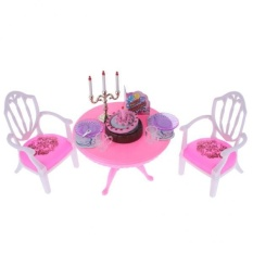 BolehDeals Luxury Plastic Furniture Play Set for Barbie Dolls House Birthday Party Time - intl