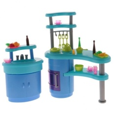 BolehDeals Luxury Plastic Furniture Play Set for Barbie Dolls House Kitchen - intl