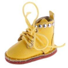 Bolehdeals Sepasang Lucu PU Kulit BOT Sepatu Cocok untuk 12 ''Blythe Doll Gaun Hingga Kuning-Internasional
