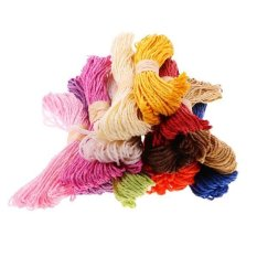 BolehDeals Kabel Kertas String Hadiah Twisted Benang Pita Pesta Pernikahan Supplies 82ft-Intl