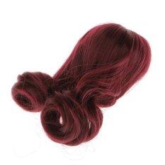 Bolehdeals Merah Red Curly Rambut Teguran Sopak untuk 1/3 BJD Sd Boneka Making & Perbaikan-Internasional