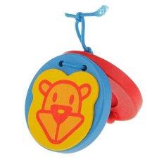 Bolehdeals Kayu Castanet Anak-anak Percussion Mainan untuk Pendidikan Dini Monyet-Internasional
