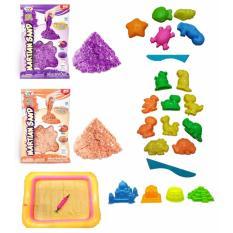 Harga Bonbon Set Mainan Pasir Magic Play Sand Glitter Diy 2 Kg Molds And Sand Tray With Pump Set Mainan Pasir Anak Glossy Yg Bagus