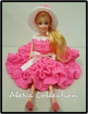 Boneka Barbie Baju Rajut Pink-1 Kado Hadiah Ulang Tahun