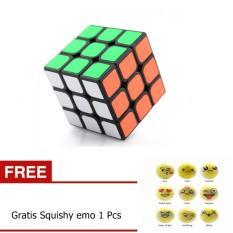 Bos Online Rubik 3 x 3 Full Color - Mainan Edukasi Rubik Gratis Squishy Emo 1 Pcs