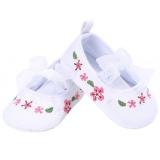 Spesifikasi Ikatan Simpul Bayi Gadis Renda Sepatu Lembut Sole Anti Slip Prewalker Putih Inch 6 Bulan Bagus