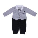 Spesifikasi Boys Pakaian Bayi Fake 2Pcs Bow Tie Eropa Cute Tampan Romper Internasional Bagus