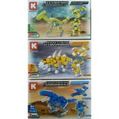 Harga Brick Dinosaur Super Dragon In 3 Deformation 18001 Terbaik
