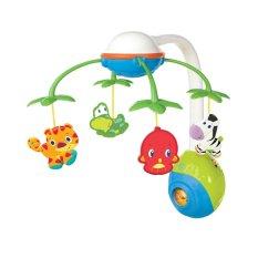 Bright Starts 2 in 1 Soothing Safari Mobile Mainan Baby Box - Warna Warni
