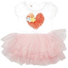 Beli Bronsy Dress Tutu Love M Pink Brb503 Cicil