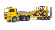 Bruder Toys 2776 MAN TGA Low loader truck w. JCB 4CX Backhoe loader
