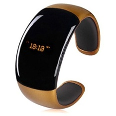 BT988 Bluetooth 3.0 Smartwatch Smart Gelang Alert Buzz AlarmCallFor IOS dan Android (Emas)-Intl